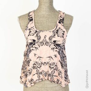 Topshop Tattoo Print Blouse